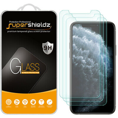 """3X Supershieldz Tempered Glass Screen Protector for Apple iPhone 11 Pro (5.8"""")"""