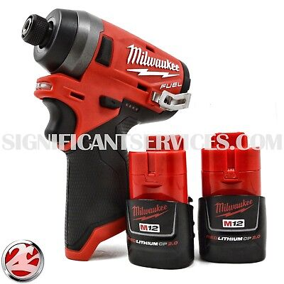 Milwaukee 2553-20 M12 12V FUEL Li-Ion Brushless 1/4 Impact Driver 2.0 Battery
