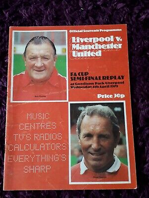 1979-Manchester-Man United-Utd V Liverpool Fa Cup Semi Final Replay Programme