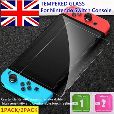 1/2 For Nintendo Switch Console PREMIUM TEMPERED GLASS Screen Protector Cover 9H