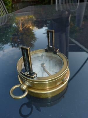 Late 19th Century Brass Topographical Pocket Compass, Military