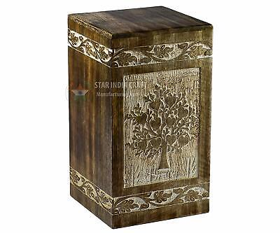 Cremation Urn Adult Human Ashes Pets Cat Dog Funeral Keepsake Crafted Wood SWU23