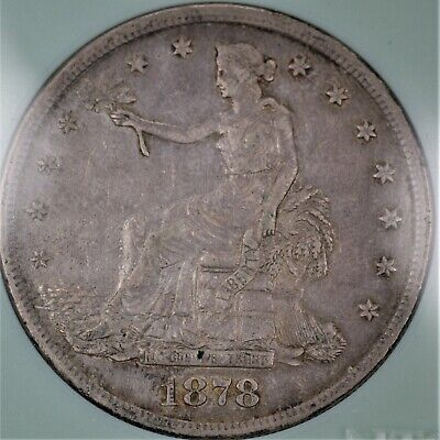 1878-S United States 90% Silver Trade Dollar Coin AU Condition  A-1234