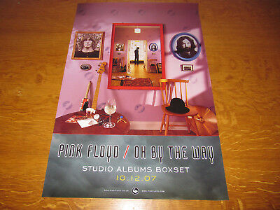 Pink Floyd - Oh, By The Way - Original 2007 2-Sided Uk Promo Poster