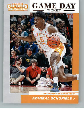 2019-20 Contenders Draft Picks Game Day Tickets 32 Admiral Schofield - Tennessee