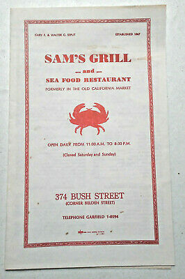 1950 S Vintage Die Cut Fish Menu The Spray Seafood Grill