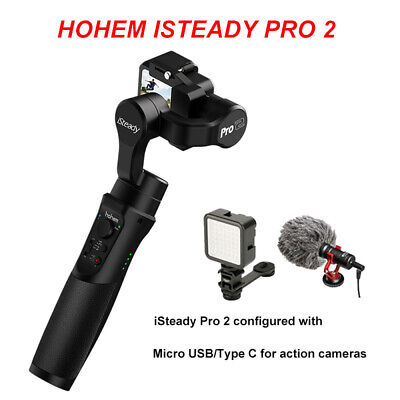 Hohem iSteady Pro 2 3-Axis Stabilizer Bar Microphone for SONY RX0 GoPro Hero YI