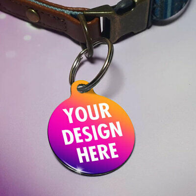 DESIGN YOUR OWN DOG TAG. Personalised ID tag with your own photo, logo or design