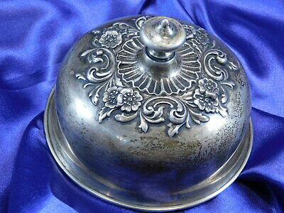 Gorham Sterling Silver Repousse Lid, 4 3/8 Inches Wide A3966  - Good Condition