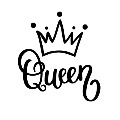 Queen Bee Funny Cute Family Princess Crown Mom Car Decal Window Vinyl Sticker