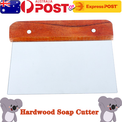 Hardwood Soap Cutter Straight Stainless Handle Cutter Wax Dough Slicer Cake OZ