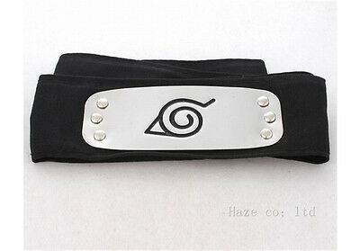Anime Naruto Shippuden Hidden Leaf Village Black Ninja Cosplay Headband Prop