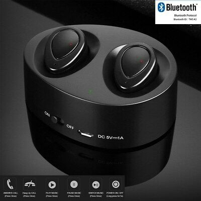 Wireless Bluetooth Earphones Headphones Earbuds TWS For iPhone Samsung Android