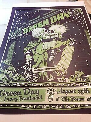 Green Day Concert Poster Reprint 12x18 Forum 2009 Los Angeles CA Goldenvoice