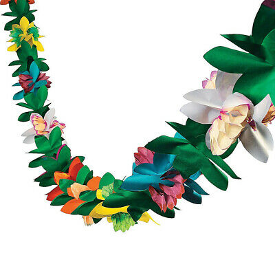 3m Tissue Flower Garland Tropical Hawaiian Luau Party Decorations Fake Flower Vi