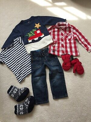 Xmas Jumper Bundle Jeans, Boots, Gloves Next Ted Baker 1.5-2 Years