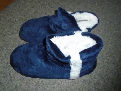 Soft, cosy navy blue and white slipper boots, NEXT, Size Small, UK size 3-4, NEW