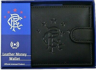 Glasgow Rangers Fc Rfid Real Leather Football Sports Money Wallet Purse Rfc Gift