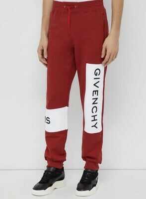 Givenchy Logo Embroidered Cotton Track Pants. Size XS. RRP £765