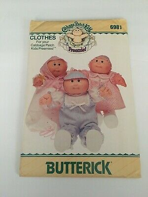Butterick Cabbage Patch Kids Doll Clothes Pattern 6981 Vintage