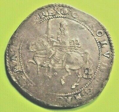 High Grade Charles 1St Exeter  Mint Silver  Crown ,Rare Coin. 1643-1646