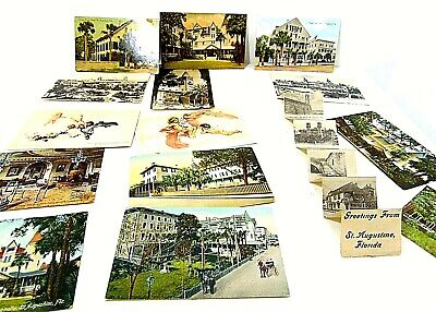 St. Augustine Florida Tucks Post Card Fold Out Victorian 1930S Lot