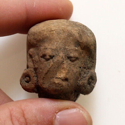 Scarce-Peru Pre Columbian Terracotta Female Head Circa 700-500 Bc