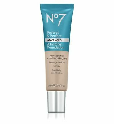 No.7 Protect & Perfect Advanced All In One Foundation 30ml Sealed Authentic