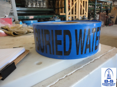 BURIED WATER LINE | 1000' Tape Roll | Blue w/ Black Lettering
