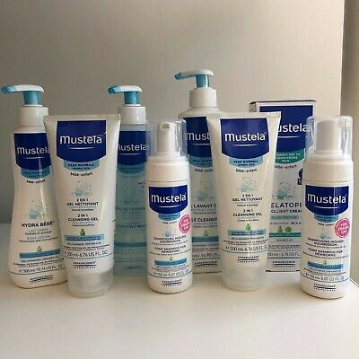 Mustela Baby Cleansing Gels, Water, Body Lotion, Soothing Cream & Shampoo LOT!!!