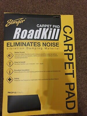 "Dynamat Stinger Roadkill RKCP12 Carpet Pad  32"" x 54"" 12sqft Reduces Road Noise"