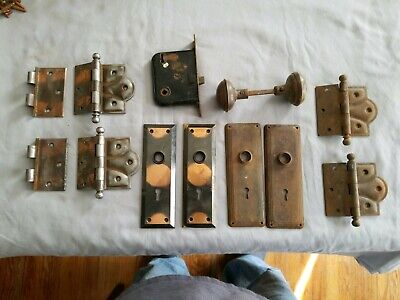 vintage door hinges and other hardware