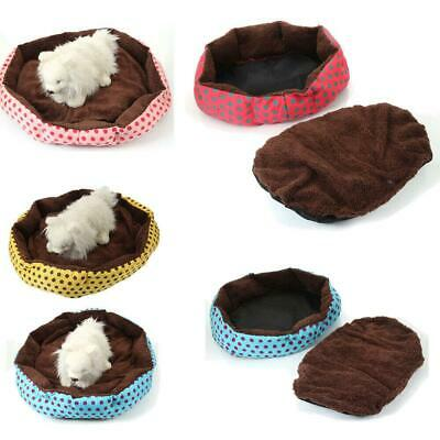 Pet Cat Dog House Kennel Cave Sleeping Bed Super Soft Mat Pad Warm Nest S/L