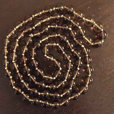 Fine Old Antique Chinese Peking Glass Art Beaded Necklace Knotted NICE NR