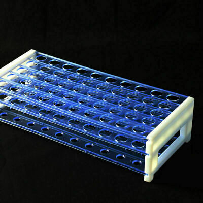 Durable Vents Plastic Useful Deck Test Tube Rack Plastic Laboratory Rack Blue