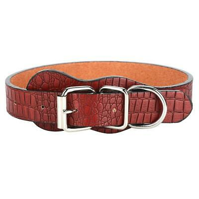 Leather Dog Collar Classic Sewn High Quality Metal Full Buckle Soft Comfortable