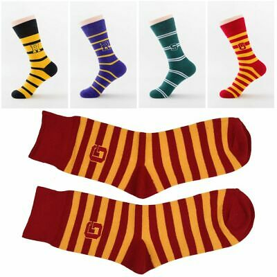 1 Pair Ladies Girls Stripy Striped Cotton Womens Harry Potter Stripes Mid Socks