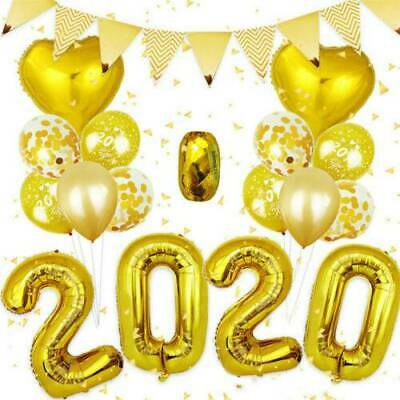 Happy New Year 2020 Number Helium Balloon Aluminum Foil Digit Air Balloons Xmas
