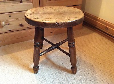 Antique 4 Legged  Stool / Genuine Antique / Vintage
