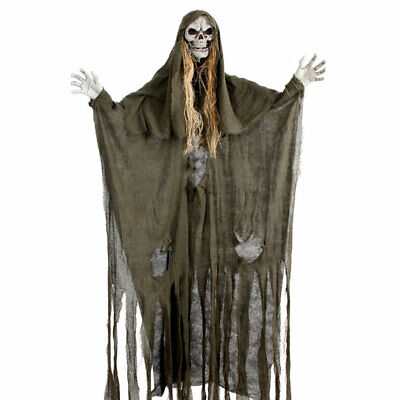 Halloween Decorations Hanging Ghost Witch Decor Horror Scary Props -190CM Green