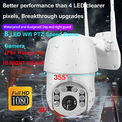 IP66 Outdoor IP Camera CCTV PTZ 5X Touch Zoom HD 1080P Dome Security IR Cam WiFi