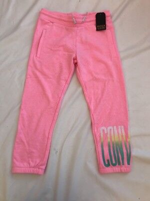 BNWT CONVERSE Pink Cropped Jogging Bottoms Tracksuit 10-12yrs