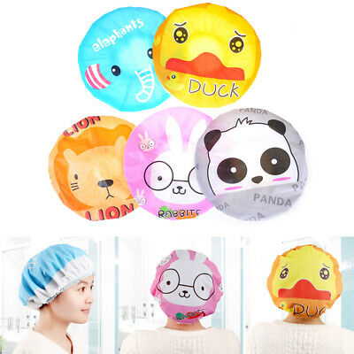 Cute Shower Bath Cap Women Hat Lace Elastic Spa Cap Girls Hair Protective HatVT