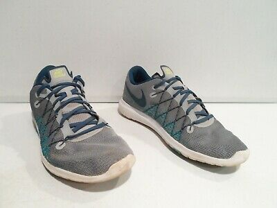 quality design e2552 abb4a NIKE FLEX FURY 2 Men's Shoes Size 11 Gray Green Running Athletic 819134-008