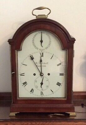 Antique mahogany bracket Striking clock C1780-1800