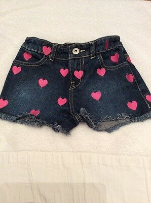 DENIM SHORTS 7-8 Yrs Gorgeous Heart Denim Shorts