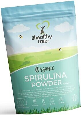 Organic Spirulina Powder by TheHealthyTree Company - UK Certified Spirulina