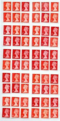 "100 1st Class red ""A"" grade Unfranked GB Stamps (Peelable)2"