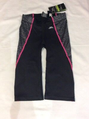 CROPPED LEGGINGS 11-12 Yrs BNWT Trespass Gym 3/4 Trousers Sports
