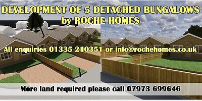 Land for bungalows with or without planning permission.